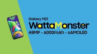 Samsung Galaxy M21 Smartphone With 48MP Triple Rear Camera Launched in India; Prices, Features & Specifications