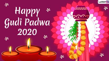Gudi Padwa Images & HD Wallpapers for Free Download Online: Wish Happy Marathi New Year 2020 With WhatsApp Stickers and GIF Greetings