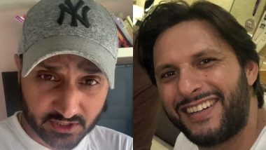 Harbhajan Singh Urges Fans to Make Donations to Shahid Afridi Foundation for Coronavirus Relief Fund; CSK Bowler Nominates Yuvraj Singh, Shoaib Akhtar and Wasim Akram (Watch Video)