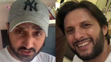 Harbhajan Singh Urges Fans to Make Donations to Shahid Afridi Foundation for Coronavirus Relief Fund; CSK Bowler Nominates Yuvraj Singh, Shoaib Akhtar and Wasim Akram (Watch Video)