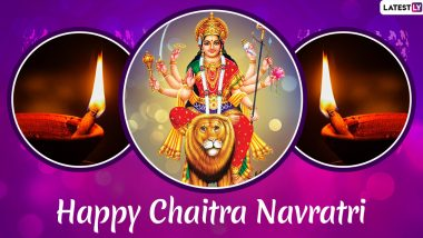 Chaitra Navratri 2020 and Vikram Samvat 2077 Wishes & HD Images: WhatsApp Stickers, Facebook GIF Greetings & Hike Messages to Celebrate Hindu New Year