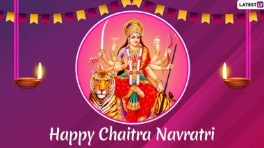 Chaitra Navratri 2020 Messages and Vikram Samvat 2077 Greetings: WhatsApp Sticker Wishes, GIF Images, Maa Durga Photos and SMS to Send on Hindu New Year