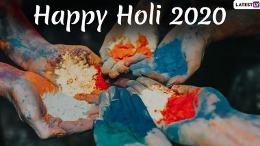 Holi Images & HD Wallpapers for Free Download Online: Wish Happy Holi 2020 With WhatsApp Stickers, Facebook Greetings and Hike Messages