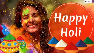 Happy Holi 2020 Greetings: Dhulandi WhatsApp Stickers, Dhuleti GIF Images, Facebook Status, SMS, Wishes and Messages to Celebrate Rangwali Holi