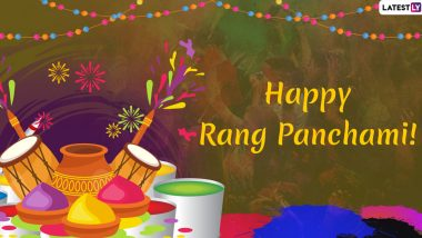 Happy Rang Panchami 2020 Hindi Wishes: Greeting, WhatsApp Messages, Stickers, Images And Quotes to Share on The Festival of Colours And Panch Tatva