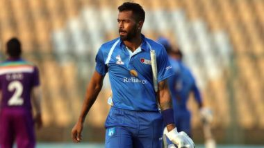 Hardik Pandya Delighted After Hitting 37-Ball Century in DY Patil T20 Cup 2020, Says 'Getting Into the Groove Day by Day' (View Post)