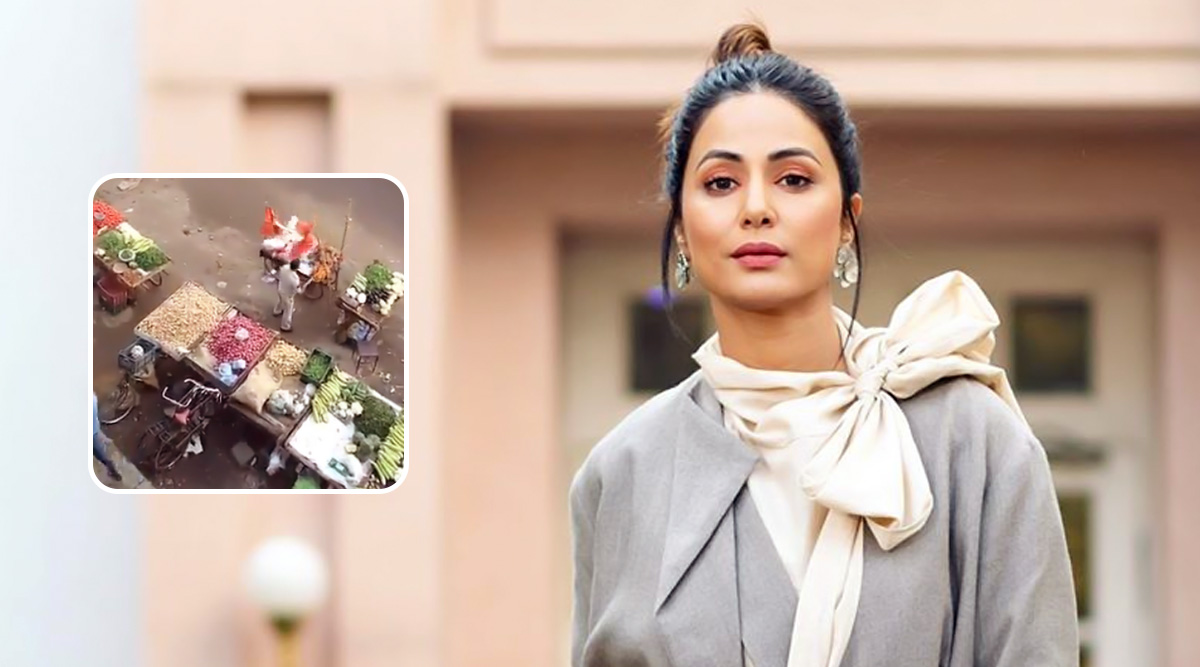 Hina Khan Shares A Video Showing Police Harassing Vegetable Vendors During Lockdown, Urges Mumbai Police To Take Action
