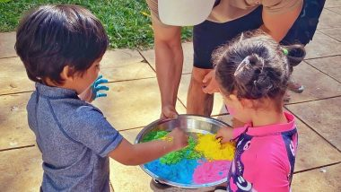 Holi 2020: Inaaya Naumi Kemmu Has a Fun Celebration With Taimur, Soha Ali Khan and Kunal Kemmu (View Pics)