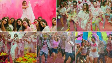 Holi Mein Rangeele Song Video: Mouni Roy, Varun Sharma and Sunny Singh's Colourful Dance Will Be a Chartbuster This Holi 2020