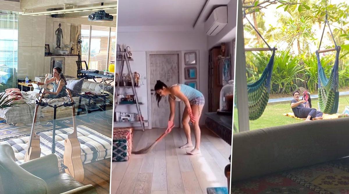 From Akshay Kumar, Katrina Kaif to Surbhi Jyoti-Bollywood and TV Celebs Give Sneak Peek Into Their Homes Through Quarantine Posts