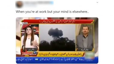 Pakistani News Anchor Says Pilot Could Have 'Ejaculated' Instead of 'Ejected' TWICE on Camera While Reading F-16 Crash Report! Viral Video Becomes Butt of All Jokes on Twitter