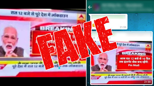 Fact Check: News of PM Narendra Modi Announcing Internet Shutdown in India for 10 Days, Starting 12 Midnight is Fake; Know The Truth Behind Viral WhatsApp Message