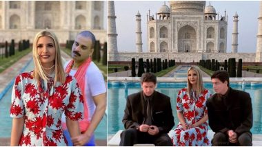 Ivanka Trump's Photos At Taj Mahal Photoshopped in Funny Memes, Check US President Donald Trump's Daughter's Reply on Making New Friends!