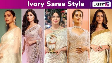 When Deepika Padukone, Priyanka Chopra, Tara Sutaria, Katrina Kaif Winked and Weaved Some Ivory Magic With Their Sarees! View Pics