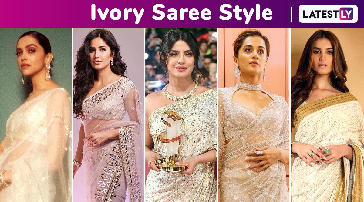 When Deepika Padukone, Priyanka Chopra, Tara Sutaria, Katrina Kaif Winked and Weaved Some Ivory Magic With Their Sarees! View Pics