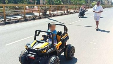 JD(S) MLA Defies Coronavirus Lockdown, Helps Grandson Drive Toy Car on Deserted Road - Watch Video