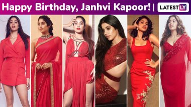 Happy Birthday, Janhvi Kapoor! Here's Why Your Passion for Shades of Red Have You Flitting From Being a Flaunt, Siren, Femme Fatale and a Seductress!