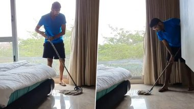 Jasprit Bumrah Mops Floor to Stay Fit and Keep His Mother Happy amid COVID-19 Lockdown (Watch Video)