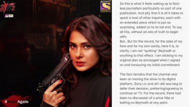 Beyhadh 2: Jennifer Winget Finally Breaks Her Silence On Her Exit From The Show, READ What She Has To Say (View Post)