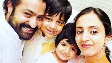 Jr NTR Celebrates Holi with Wife Pranathi and Children, RRR Actor Wishes Fans on the Auspicious Occasion