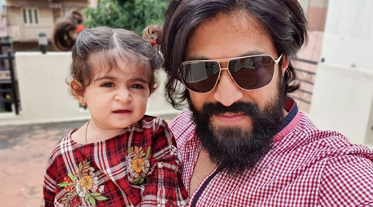 KGF Actor Yash and His Baby Girl Arya's Cute Banter Will Make You Smile During This Quarantine Period! Watch Video