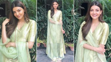 Kajal Aggarwal Is Sublime Chic in Pastel Green Raw Mango Creation That Looks Like a Must Have Summer Wardrobe Style!