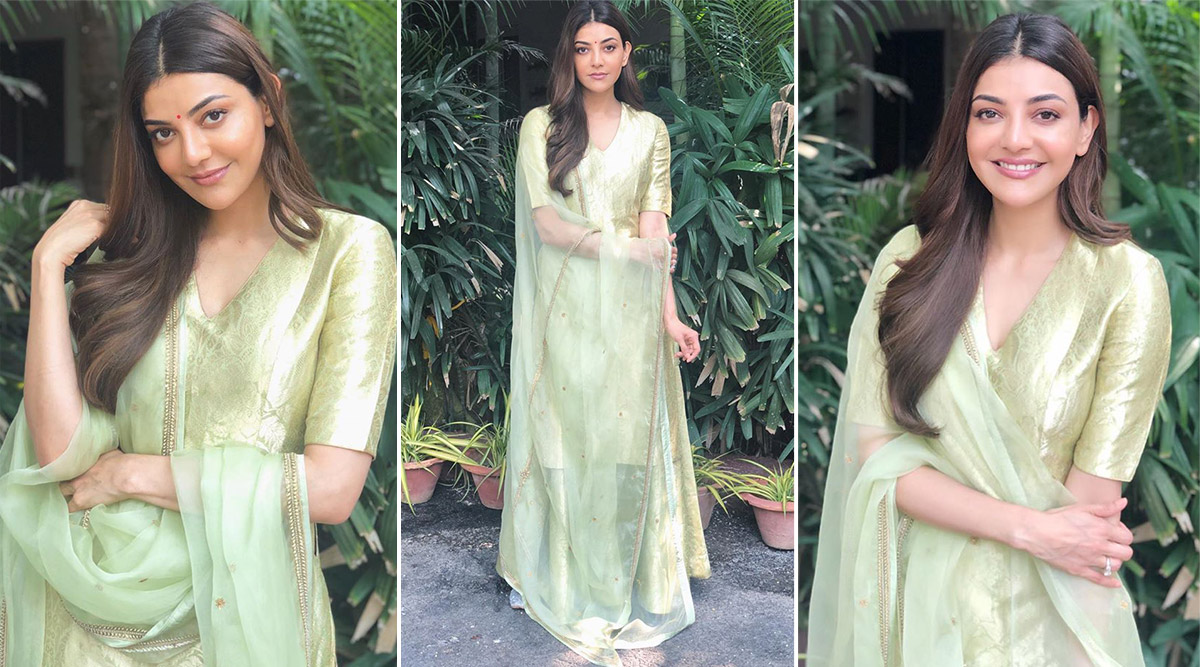 Kajal Aggarwal Is Sublime Chic in Pastel Green Raw Mango Creation That  Looks Like a Must Have Summer Wardrobe Style! | 👗 LatestLY