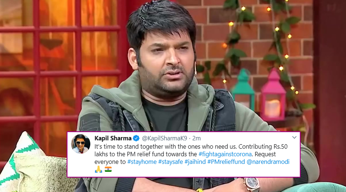 COVID-19 Outbreak: Kapil Sharma Donates Rs 50 Lakh To PM Relief Fund For The '#FightAgainstCorona' Cause (View Tweet)