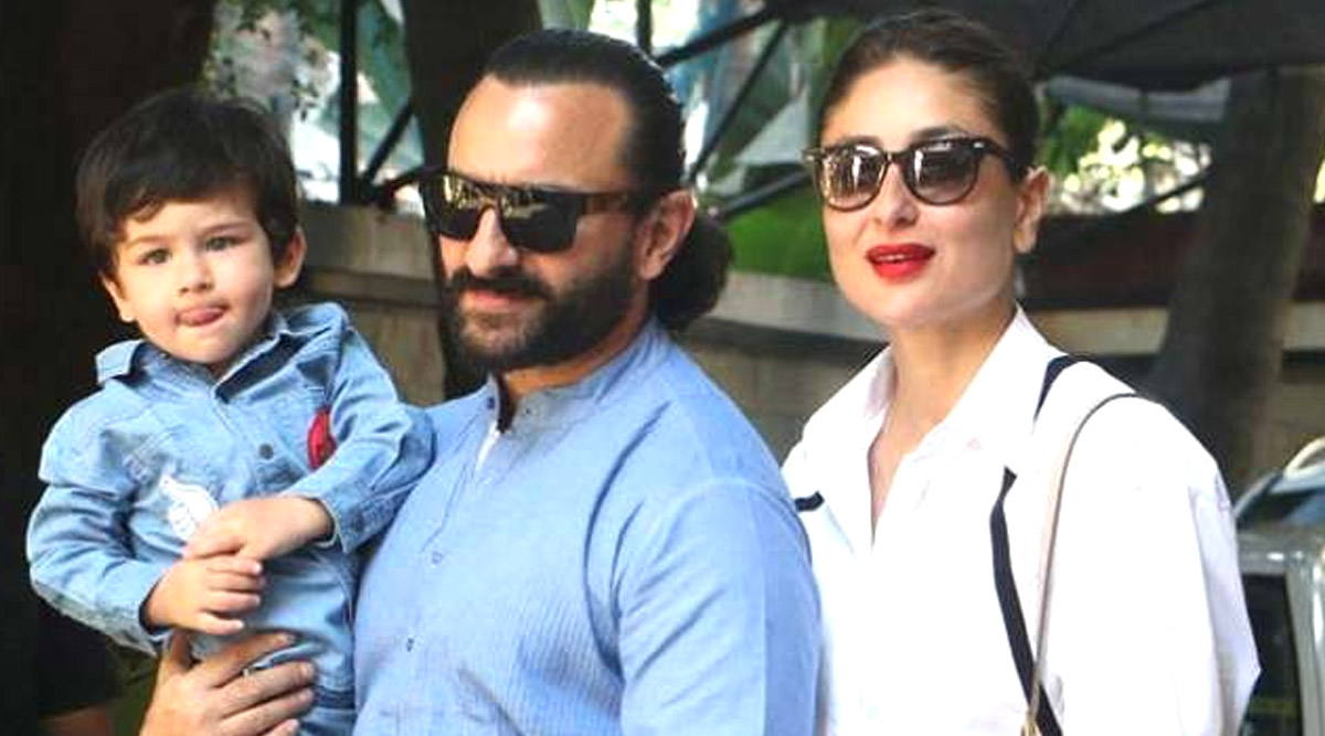 COVID-19 Lockdown: Kareena Kapoor Khan Shares a Candid Pic of Saif Ali Khan and Taimur in Bathrobes, Urges Fans to Be Home