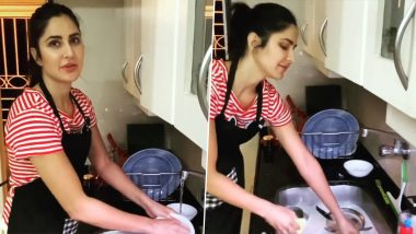 Katrina Kaif Does a Mini Tutorial On 'How To Wash Dishes' As She Gives Mandatory Off To Her House-help (Watch Video)