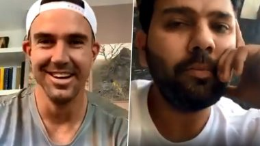 Rohit Sharma Gives a Hilarious Reply As Kevin Pietersen Asks Which Indian Player Hates COVID-19 Lockdown the Most (Watch Video)