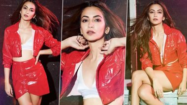 Kriti Kharbanda Is Red Hot and Ravishing in a Razor Sharp Latex Ensemble by Deme!