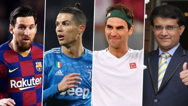 List of Sports Personalities Who Have Contributed Towards Coronavirus Relief Fund: Messi, Cristiano Ronaldo, Federer, Ganguly and Others Come Forward in Fight Against COVID-19