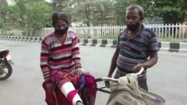 Punjab: Man Carries Injured Wife on Bicycle for 12 KMs to Hospital in Ludhiana Amid Complete Lockdown