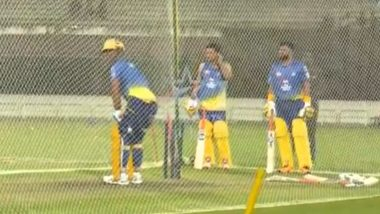 MS Dhoni Smashes Five Consecutive Sixes During Chennai Super Kings Training Session Ahead of IPL 2020 (Watch Video)