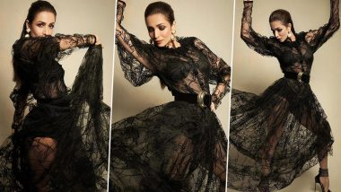 Malaika Arora Is on an Ultra Glamorous Mode in a Sheer Black Gown With Some Sexy Shapewear!