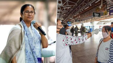 Mamata Banerjee Writes to 18 CMs Amid Complete Lockdown, Requests Them to Provide Basic Amenities to People of West Bengal in Their States Amid COVID-19 Spread