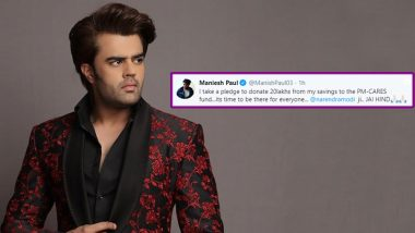 COVID-19 Relief: After Akshay Kumar and Varun Dhawan, Maniesh Paul Pledges Rs 20 Lakh to Narendra Modi's PM Cares Fund (View Tweet)
