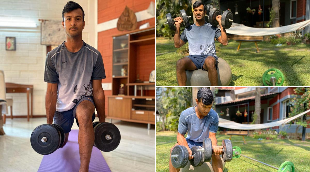 Mayank Agarwal, Team India Fielding Coach R Sridhar Give Major Gym Fitness Goals While Sitting at Home (Watch Video)