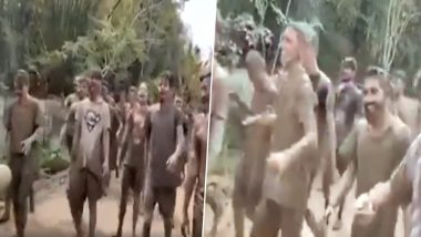 'Coronavirus Go Back!' Men Protest Against Deadly Disease by Chanting Slogans During Holi Celebrations (Watch Video)