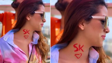 Holi 2020: Mira Rajput Flaunts Husband Shahid Kapoor's Initials 'SK' On Her Neck In a Mushy Post (View Pic)