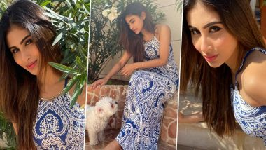 Mouni Roy Is Flirty and Floaty in a Printed Dress, Her Quarantine Photoshoot Series Is All Kinds of Desirable!