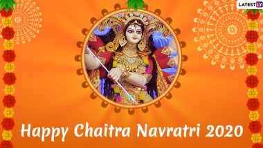 Chaitra Navratri 2020 Images & Navdurga HD Wallpapers For Free Download Online: Wish Happy Navaratri With WhatsApp Stickers and GIF Greetings to Celebrate The Festival of Maa Durga