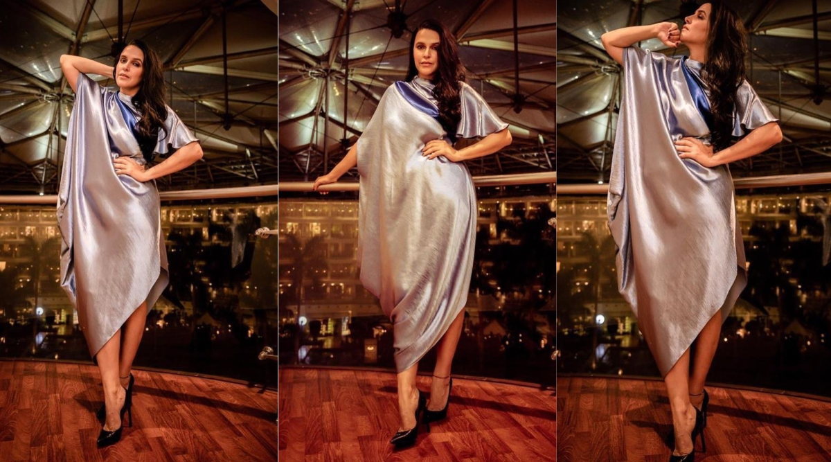Neha Dhupia Is Seeking Those Sleek Silver Linings in an Urvashi Joneja Ensemble!