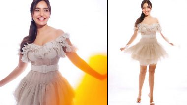Neha Sharma, the Sunshine Girl Is All Smiles in a Frayed Ruffled Kangana Trehan Mini Dress!