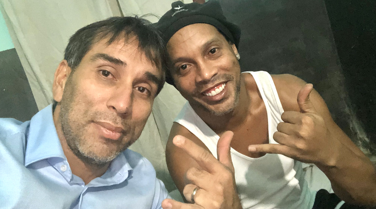 Ronaldinho Is Sad in Prison According to Former Paraguay Striker Nelson Cuevas Who Paid a Visit to the Brazil Legend