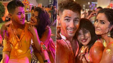 Nick Jonas Celebrates His First Holi With Priyanka Chopra, Katrina Kaif and Other Bollywood Celebs, Colourful Pictures Are Out!
