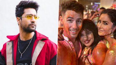 Vicky Kaushal And Katrina Kaif's Holi Dance Gets Caught In Nick Jonas' Video From Ambanis' Bash