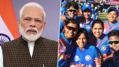 PM Narendra Modi Wishes Indian Team Ahead of ICC Women's T20 World Cup 2020 Final Clash Against Australia