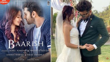 Paras Chhabra and Mahira Sharma's Music Video 'Baarish' Poster Out Now, And 'PaHira' Look Absolutely In Love